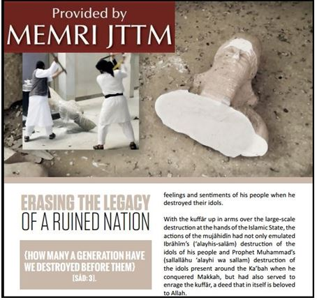 In Dabiq Article ISIS Justifies Smashing Archeological Treasures
